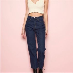 BRANDY MELVILLE HIGH WAISTED BLUE JEANS